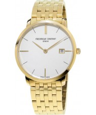 Frederique Constant FC-220V5S5B Slimline Gents Yellow Gold Plated Bracelet Watch