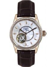 Rotary LS90515-41 Ladies Les Originales Jura Automatic Brown Leather Strap Watch