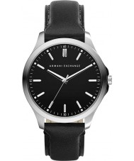 Armani Exchange AX2149 Mens Black Leather Strap Dress Watch