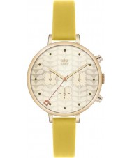 Orla Kiely OK2038 Ladies Gold Chronograph Yellow Leather Strap Watch