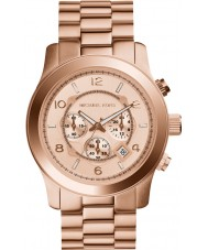 Michael Kors MK8096 Mens Runway Rose Gold Plated Chronograph Watch