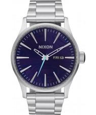 Nixon A356-230 Mens Sentry Silver Steel Bracelet Watch