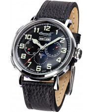 Ingersoll IN1917SBK Mens De Weerd Black Leather Strap Watch