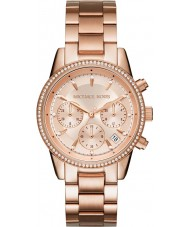 Michael Kors MK6357 Ladies Ritz Rose Gold Plated Chronograph Watch