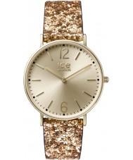 Ice-Watch 001428 Ladies City Madame Exclusive Gold Glitter Fabric Strap Watch