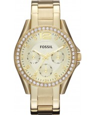 Fossil ES3203 Ladies Riley Gold Steel Bracelet Watch
