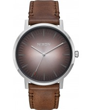 Nixon A1058-2594 Mens Porter Brown Leather Strap Watch