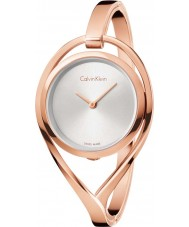 Calvin Klein K6L2M616 Ladies Light Rose Gold Plated Bangle Watch