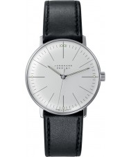 Junghans 027-3700-00 Max Bill Black Handwinding Mechanical Watch