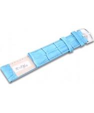 Krug-Baumen TC19710G Neon Blue Leather Replacement Mens Principle Strap