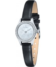 Fjord FJ-6011-02 Ladies Marina 2 Hand Silver Black Watch