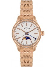Rotary LB02854-01 Ladies Timepieces Beaumont Moonphase Rose Gold Watch