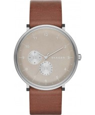 Skagen SKW6168 Mens Hald Brown Leather Strap Watch