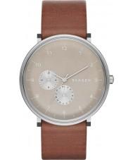 Skagen SKW6168 Mens Hald Brown Leather Strap Watch