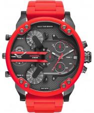Diesel DZ7370 Mens Mr Daddy 2.0 Red Steel Bracelet Watch