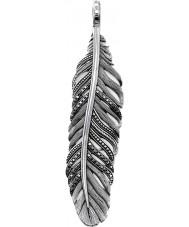 Thomas Sabo PE703-643-11 Mens Black Feather Pendant
