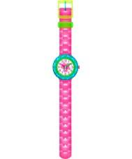 Flik Flak FCSP028 Girls Chewy Pink Silicone Strap Watch