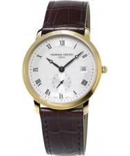 Frederique Constant FC-245M4S5 Slimline Gents Brown Leather Strap Watch