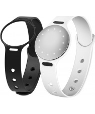 Misfit MIS4200 Shine 2 Black and White Interchangeable Strap Watch Compatible with Android and iOS Watch