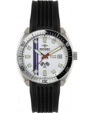 Rotary AGS90080-W-06 Mens Aquaspeed Black White Watch