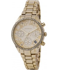 Monsoon MO4000 Ladies Stone Set Gold Chronograph Watch