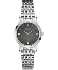 Bulova 96S148 Ladies Diamond Gallery Silver Steel Bracelet Watch