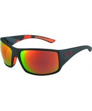 Bolle Tigersnake Matt Black Camo Polarized TNS Fire Sunglasses