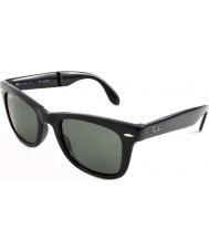 RayBan RB4105 50 Folding Wayfarer Black 601-58 Polarized Sunglasses