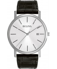 Bulova 96B104 Mens Dress Black Leather Strap Watch