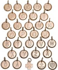 Edblad 116130235-B Charmentity B Rose Gold Plated Small Pendant