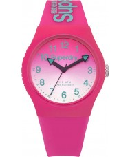 Superdry SYL198PN Ladies Urban Laser Pink Silicone Strap Watch