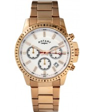 Rotary GB00174-06 Mens Silver Gold Chronograph Watch