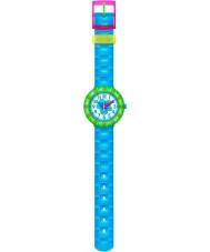 Flik Flak FCSP029 Girls Chewy Blue Silicone Strap Watch