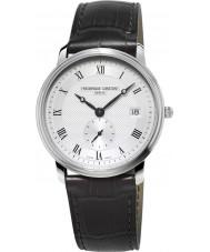 Frederique Constant FC-245M4S6 Slimline Gents Black Leather Strap Watch
