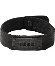 Diesel DX0569040 Mens Black Leather Cuff