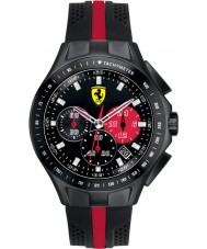 Scuderia Ferrari Mens Race Day Black and Red Rubber Watch