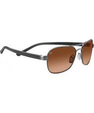 Serengeti Volterra Shiny Hematite Drivers Gradient Sunglasses