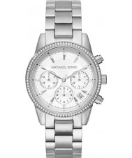Michael Kors MK6428 Ladies Ritz Silver Plated Chronograph Watch