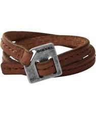 Diesel DX0568040 Mens Brown Leather Cuff