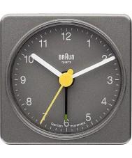 Braun BNC002GYGY Square Grey Alarm Clock