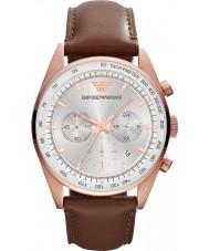 Emporio Armani AR5995 Mens White Brown Chronograph Sports Watch