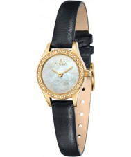 Fjord FJ-6011-04 Ladies Marina 2 Hand Gold Black Watch