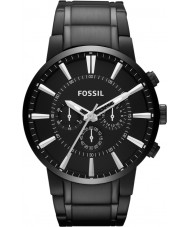 Fossil FS4778 Mens Townsman Black IP Steel Chronograph Watch