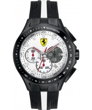 Scuderia Ferrari Mens Race Day White and Black Rubber Watch