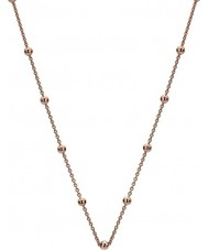 """Emozioni CH051 24"""" Rose Gold Plated Sterling Silver Intermittent Bead Chain"""