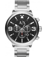 Armani Exchange AX1369 Mens Urban Silver Steel Chronograph Watch