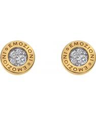 Emozioni DE404 Ladies Yellow Gold Plated Pianeta Earrings