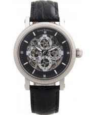 Krug-Baumen 60211DM Mens Majestic Black Leather Strap Watch