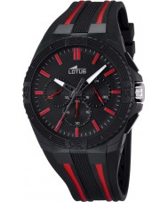 Lotus Mens Lotus R Red Black Chronograph Watch