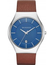 Skagen SKW6160 Mens Grenen Light Brown Leather Strap Watch